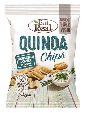 Eat Real Sour Cream Quinoa Chips - 12 x 30g - Food Republic Services Ltd.