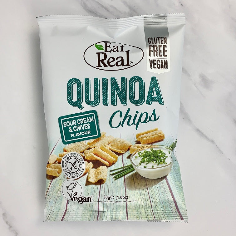 Eat Real Sour Cream Quinoa Chips - 12 x 30g