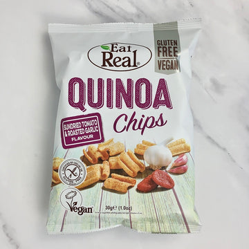 Eat Real Tomato & Garlic Quinoa Chips - 12 x 30g