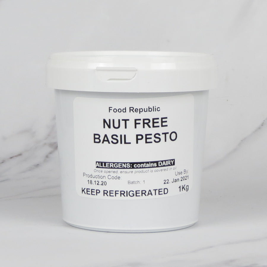 Nut Free Green Basil Pesto (Vegetarian) - 1kg