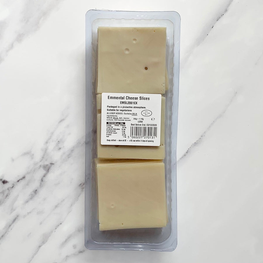 Sliced Emmental Cheese - 1KG - Food Republic Services Ltd.