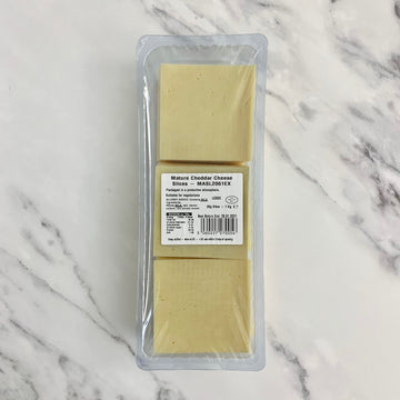 Sliced Mature Cheddar Cheese - 1kg