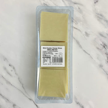 Sliced Mild Cheddar Cheese - 1kg