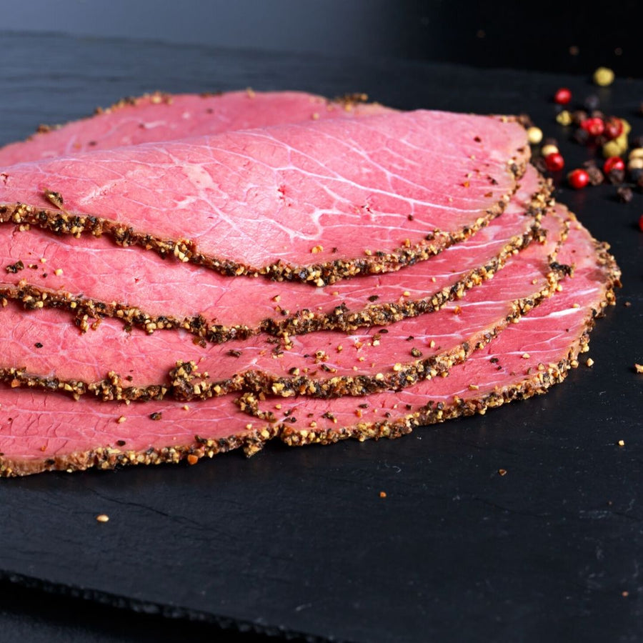 Sliced Peppered Beef Pastrami Brisket - 500g - Food Republic Services Ltd.