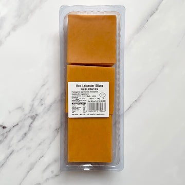 Sliced Red Leicester - 1kg - Food Republic Services Ltd.
