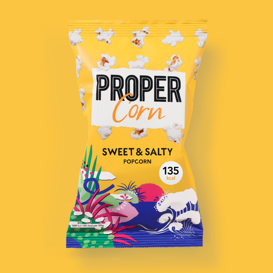 PROPER Sweet & Salty Popcorn - 24 x 30g - Food Republic Services Ltd.