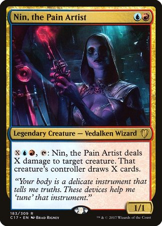 Nin, the Pain Artist [Commander 2017] | Black Knight Games