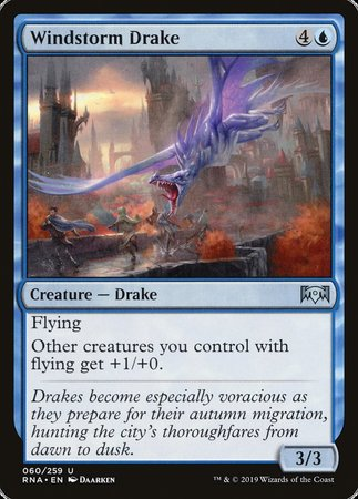 Windstorm Drake [Ravnica Allegiance] | Black Knight Games