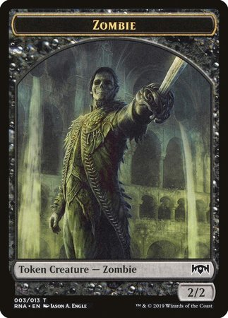 Zombie Token [Ravnica Allegiance Tokens] | Black Knight Games