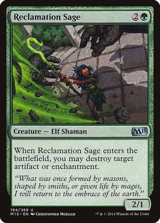 Reclamation Sage [Magic 2015] | Black Knight Games