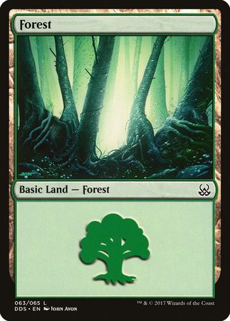 Forest (63) [Duel Decks: Mind vs. Might] | Black Knight Games