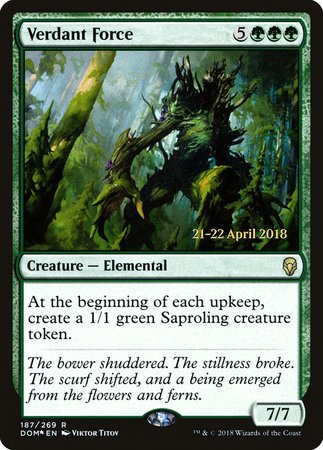 Verdant Force [Dominaria Promos] | Black Knight Games