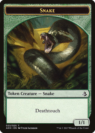 Snake Token [Amonkhet Tokens] | Black Knight Games