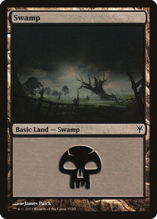 Swamp (35) [Duel Decks: Sorin vs. Tibalt] | Black Knight Games