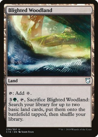 Blighted Woodland [Commander 2018] | Black Knight Games