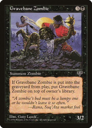 Gravebane Zombie [Mirage] | Black Knight Games
