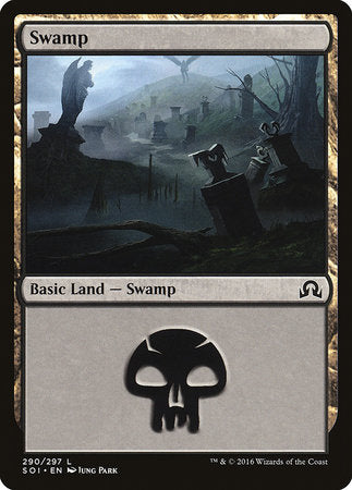 Swamp (290) [Shadows over Innistrad] | Black Knight Games