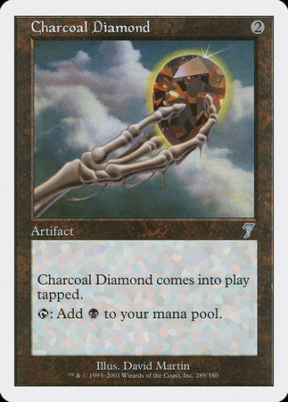 Charcoal Diamond [Seventh Edition] | Black Knight Games