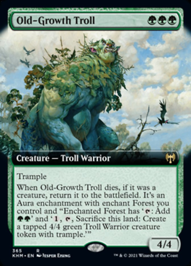Old-Growth Troll (Extended Art) [Kaldheim] | Black Knight Games