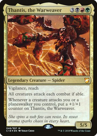 Thantis, the Warweaver [Commander 2018] | Black Knight Games
