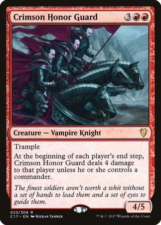 Crimson Honor Guard [Commander 2017] | Black Knight Games