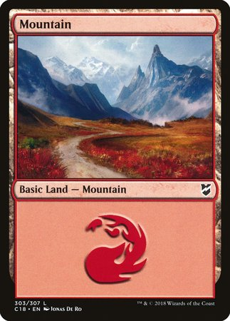 Mountain (303) [Commander 2018] | Black Knight Games