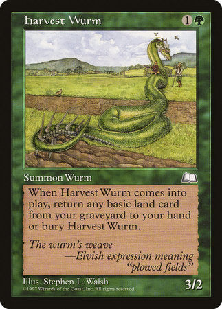Harvest Wurm [Weatherlight] | Black Knight Games