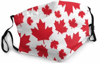 Themed Mask: Canada Maple Leaf