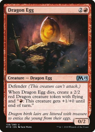 Dragon Egg [Core Set 2019] | Black Knight Games