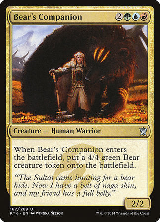 Bear's Companion [Khans of Tarkir] | Black Knight Games