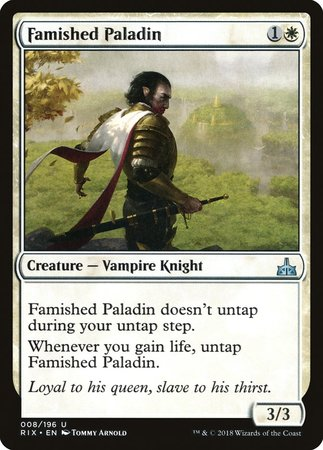 Famished Paladin [Rivals of Ixalan] | Black Knight Games