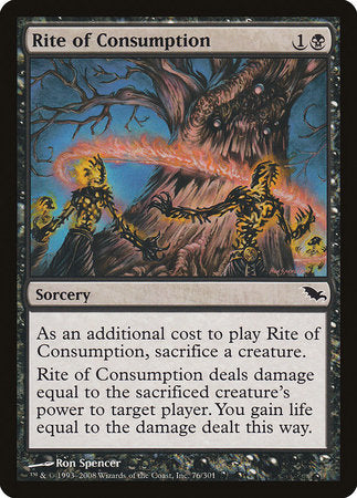 Rite of Consumption [Shadowmoor] | Black Knight Games