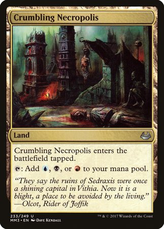 Crumbling Necropolis [Modern Masters 2017] | Black Knight Games