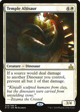 Temple Altisaur [Rivals of Ixalan] | Black Knight Games