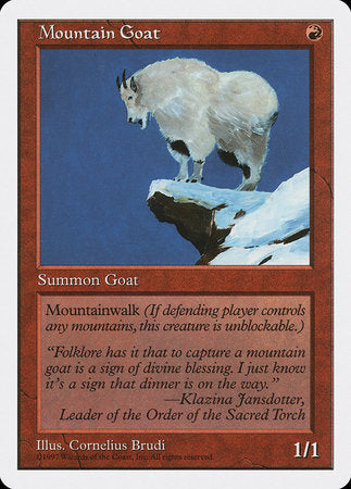 Mountain Goat [Fifth Edition] | Black Knight Games