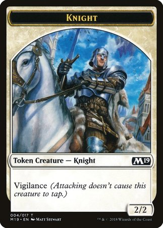Knight Token [Core Set 2019 Tokens] | Black Knight Games