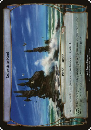 Celestine Reef (Prerelease Promo) [Promotional Planes] | Black Knight Games