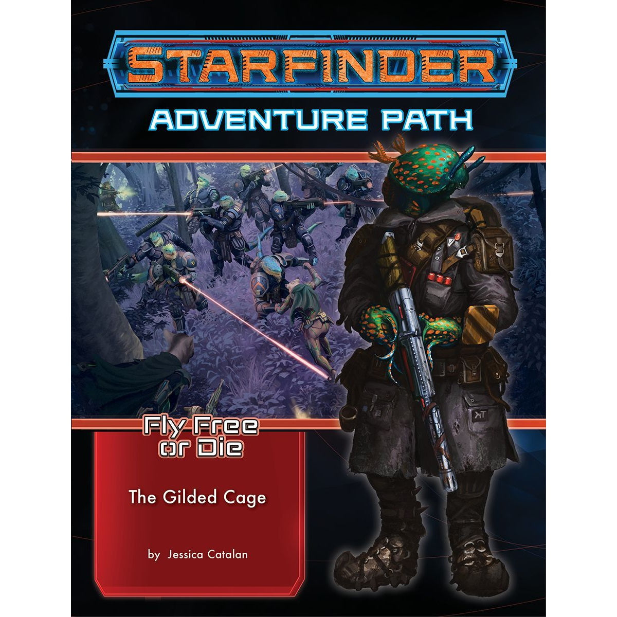 (PREORDER) Starfinder: Fly Free or Die 6 - The Gilded Cage | Black Knight Games