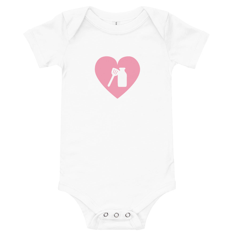 Milk Jar Heart - Baby Onesie