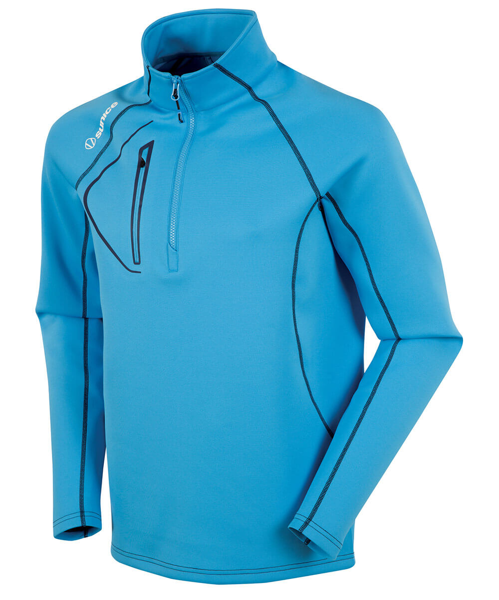 SUNICE MEN'S ALLENDALE SUPERLITEFX STRETCH THERMAL HALF-ZIP PULLOVER