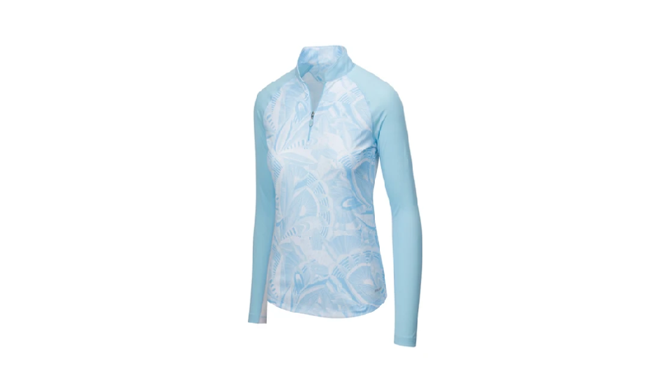 GREG NORMAN SOLAR XP ¼-ZIP ETCHED LEAF CUTAWAY MOCK