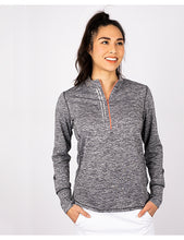 Load image into Gallery viewer, ANNIKA LADIES FREQUENCY 1/2 ZIP LONG SLEEVE
