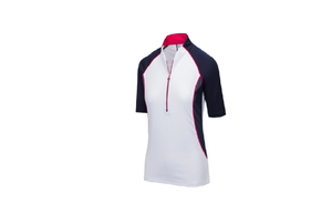 GREG NORMAN ML75 MARINA ELBOW SLEEVE ½-ZIP POLO