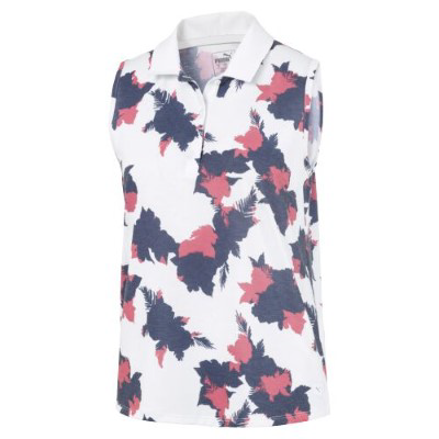 PUMA FLORAL SLEEVELESS POLO