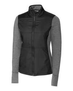 CUTTER AND BUCK LADIES' STEALTH FULL-ZIP