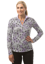 Load image into Gallery viewer, SANSOLEIL SOLTEKICE L/S PRINT MOCK- JANES GARDEN