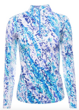 Load image into Gallery viewer, IBKÜL CAT CAY PRINT LONG SLEEVE MOCK NECK