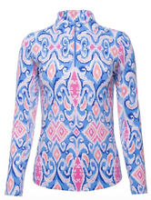 Load image into Gallery viewer, IBKÜL DOREEN PRINT LONG SLEEVE MOCK NECK
