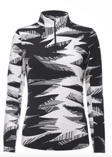 Load image into Gallery viewer, IBKÜL STORMI PRINT LONG SLEEVE MOCK NECK