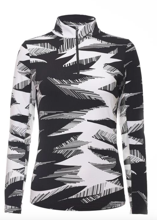 IBKÜL STORMI PRINT LONG SLEEVE MOCK NECK